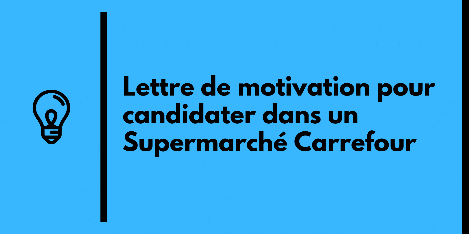 lettre motivation supermarch