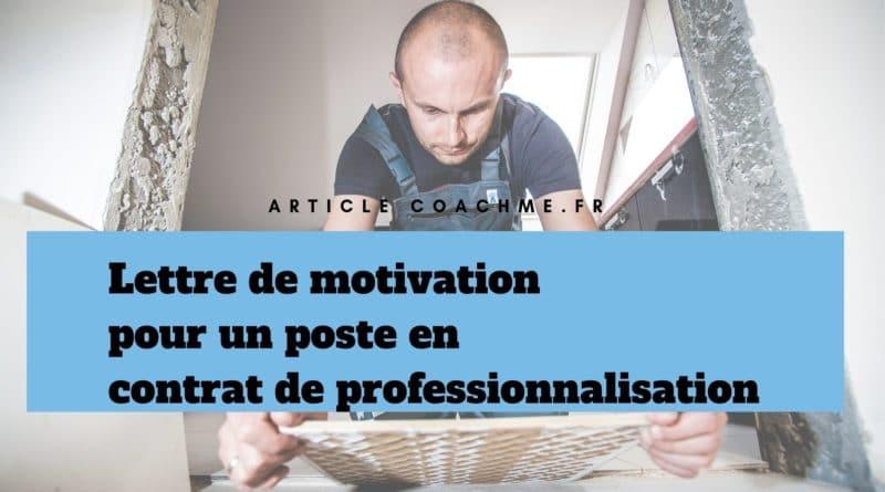 Lettre De Motivation Pour Un Contrat De Professionnalisation