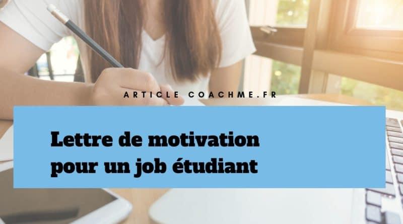 Modèle De Lettre De Motivation Pour Un Job étudiant