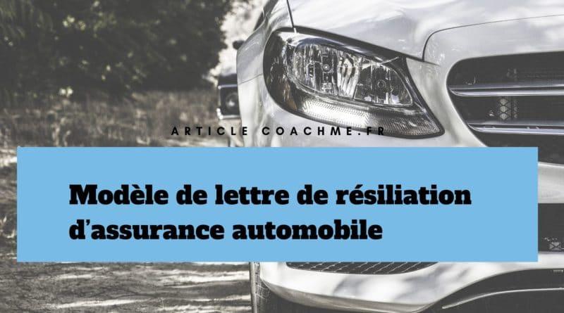 Modèle De Lettre De Résiliation D Assurance Automobile