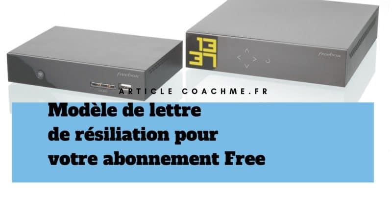 Modèle De Mettre De Résiliation Pour Free Téléphone Internet