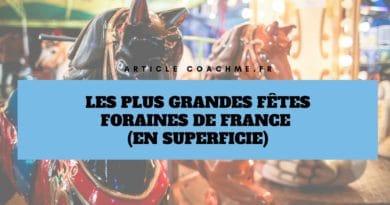 Les 9 plus grandes fêtes foraines de France (en superficie)