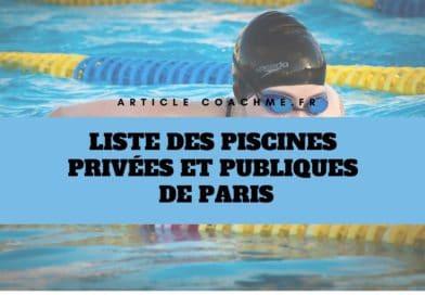 Liste des 43 piscines privées et publiques de Paris