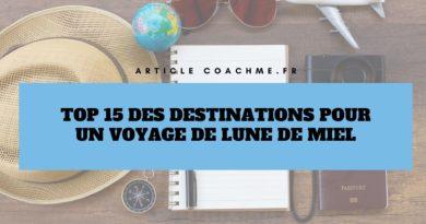 Top 15 des destinations pour un voyage de Lune de Miel