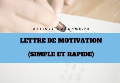 Modèle de lettre de motivation (simple et rapide)