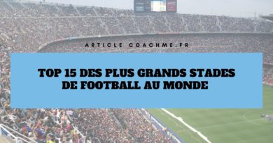 Top 15 des plus grands stades de football au monde