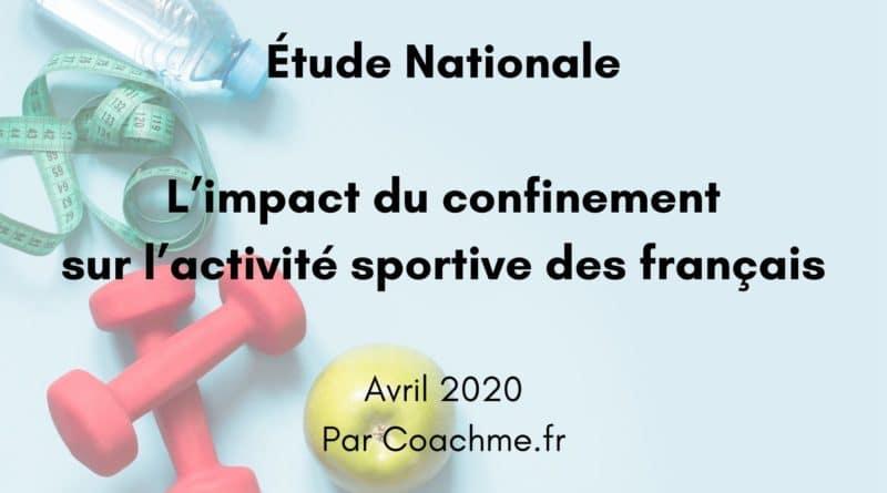 Étude – L'impact du confinement sur l'activité sportive des français