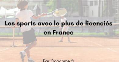 Top 10 des sports avec le plus de licenciés en France
