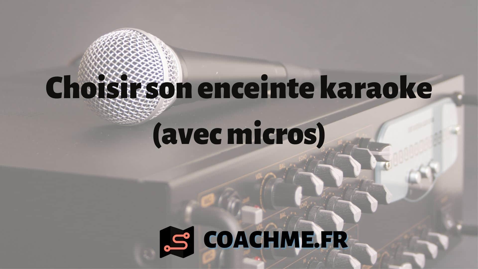 enceinte karaoke micro