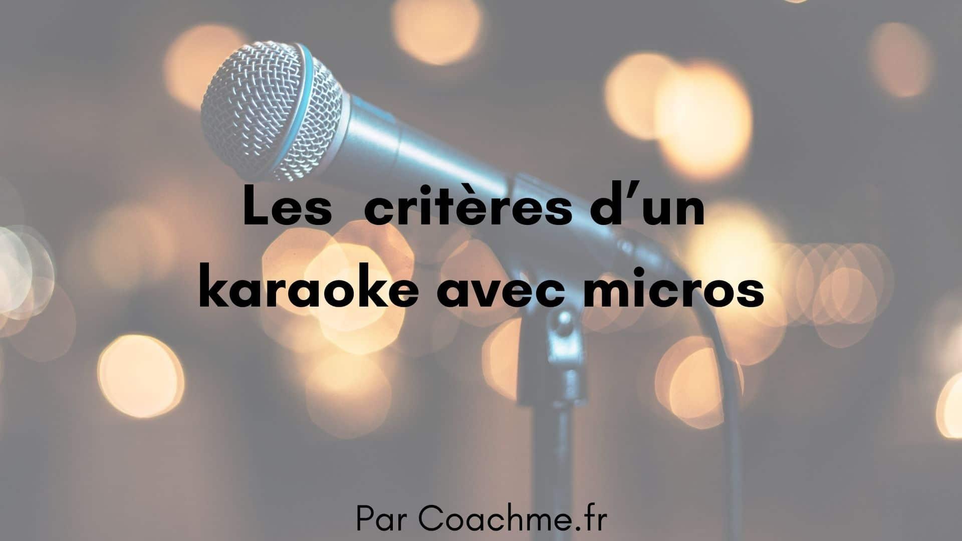 karaoke avec micro