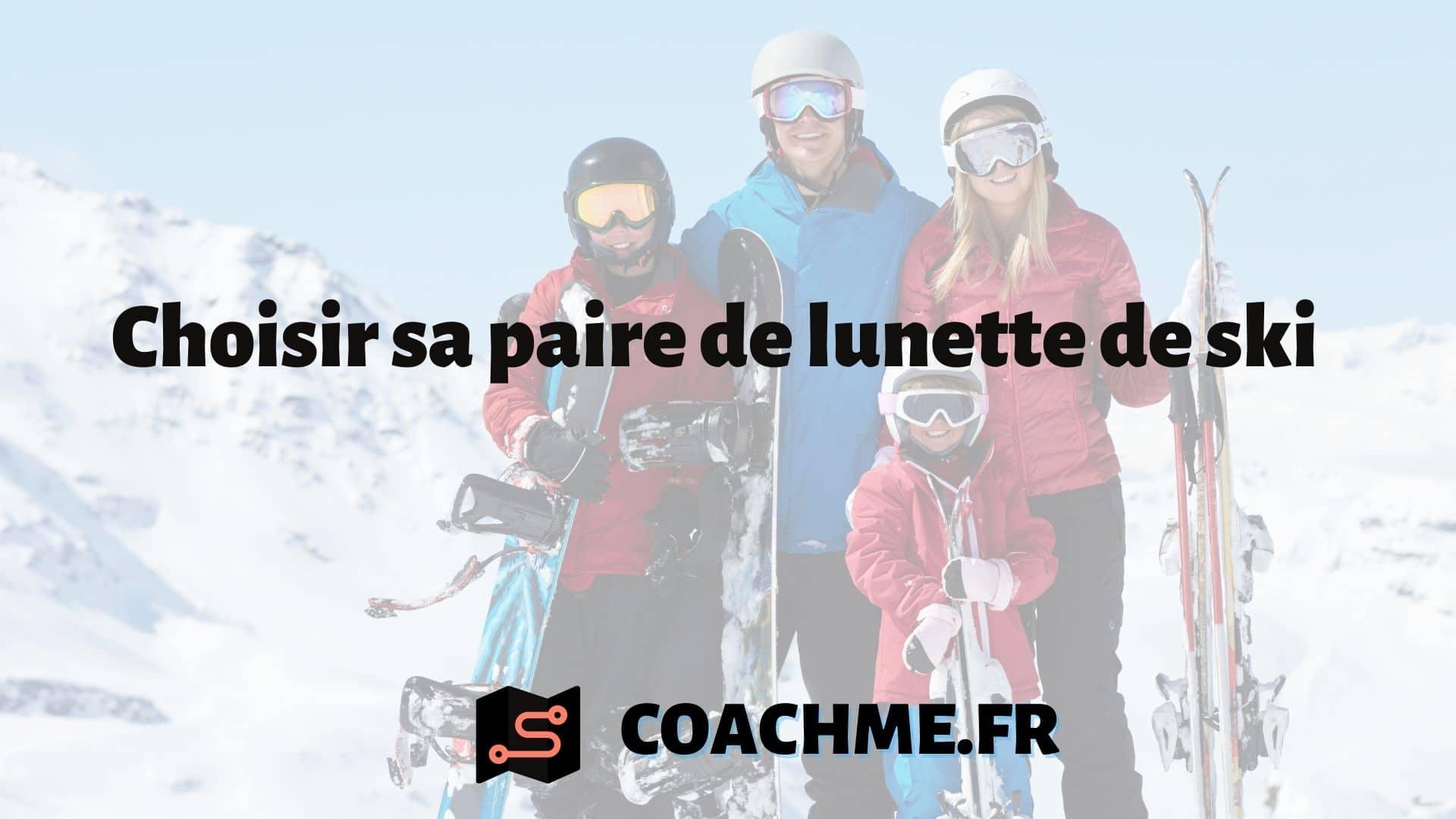 paire lunette de ski
